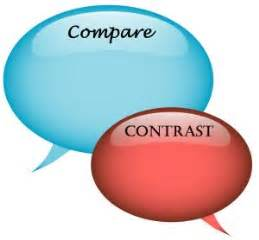 Compare contrast essay outlines examples